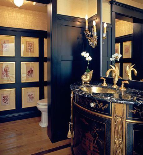 Bold Powder Rooms : NICOLE COHEN