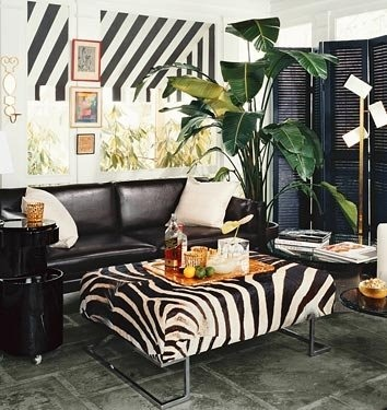 Zebra Ottoman2
