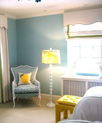 a happy color combo teal yellow nicole cohen. Black Bedroom Furniture Sets. Home Design Ideas