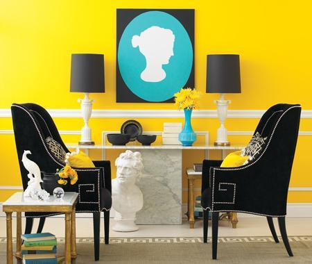 A Happy Color Combo: Teal & Yellow : NICOLE COHEN