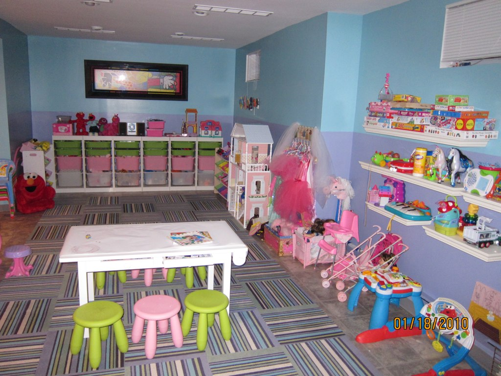 The ultimate basement playroom nicole cohen for Kids play rooms